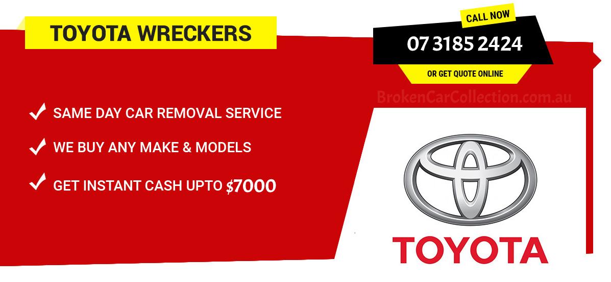 Broken Car Collection Toyota Wreckers